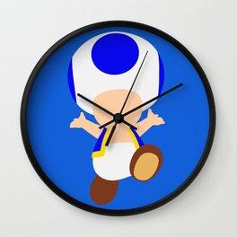 Blue Toad (Super Mario) Wall Clock