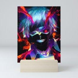 Neon Ghoul face Mini Art Print