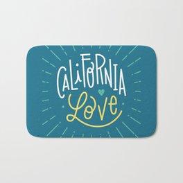California love - blue Bath Mat