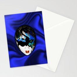 Blue Velvet Venice Mask  Stationery Cards