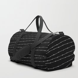 Cool black and white barbed wire pattern Duffle Bag