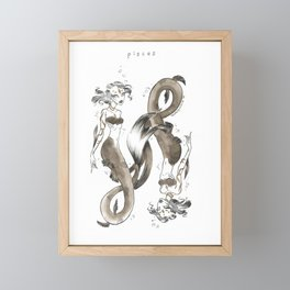 Pisces Framed Mini Art Print