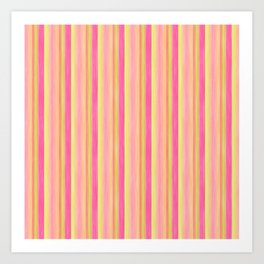 Pink Yellow Scrapbook Sherbert Art Print