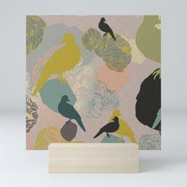 Birds on rocks Mini Art Print