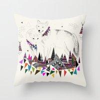 kris tate Throw Pillows featuring TENDER MOUNTAIN  |  by Kristy Lynn + Kris Tate by Kristy Lynn