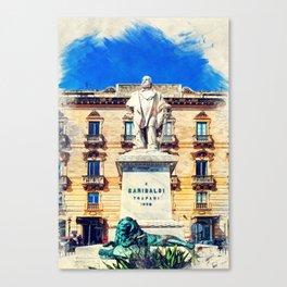 Trapani art 17 Sicily Canvas Print