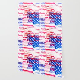 Messed Up American Flag Wallpaper