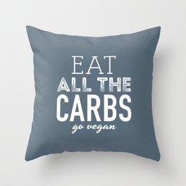 Eat All The Carbs Throw Pillow