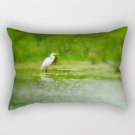 Marsh Egret Rectangular Pillow
