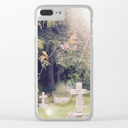 Cemetery, St. John's Anglican Church, Cobble Hill B.C. Clear iPhone Case