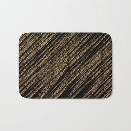 Black Leopard/Cheetah Print Bath Mat