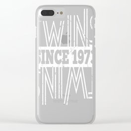 Twins-Since-1973---44th-Birthday-Gifts Clear iPhone Case