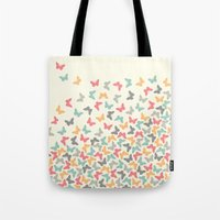 butterflies Tote Bags featuring Butterflies by Juste Pixx Designs
