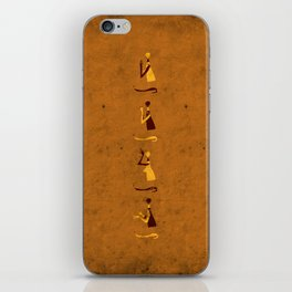 Forms of Prayer - Yellow iPhone Skin