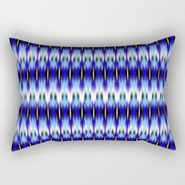 ikat small scale row in blues Rectangular Pillow