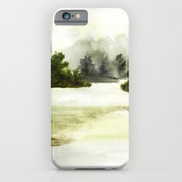 Silence, landscape painting iPhone Case