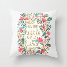 Little & Fierce Throw Pillow