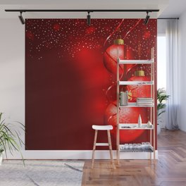 Red Christmas Background Wall Mural
