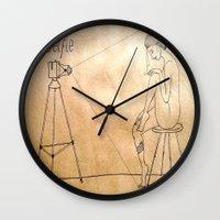selfie Wall Clocks featuring Selfie by Amanda Vieira