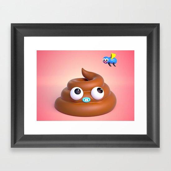 "BFFLs ""Fly & Poop"" 💩🐝💕 Framed Art Print"