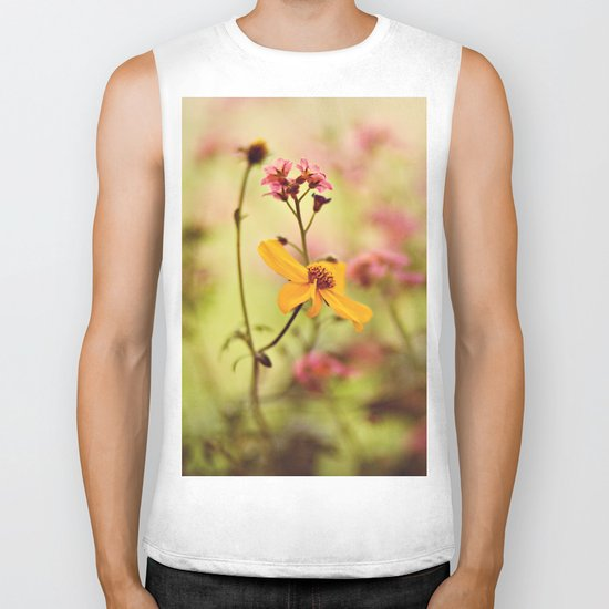 Lemon drop Flower box Biker Tank