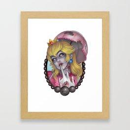 Zombie Peach Framed Art Print