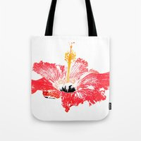 hibiscus Tote Bags featuring Hibiscus by Regan's World
