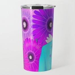Flower & eyes Travel Mug