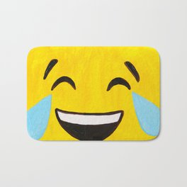 Tears of Joy - Emoji Minifigure Painting Bath Mat