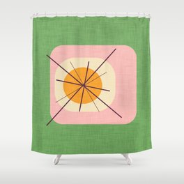Flower Eggs Green-Pink Shower Curtain