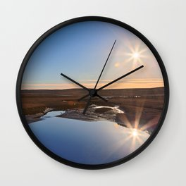 Twin Suns of Point Reyes Wall Clock