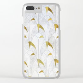 Gold Marble Deco Arch Clear iPhone Case