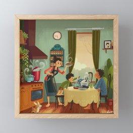 Dinner at Dusk Framed Mini Art Print