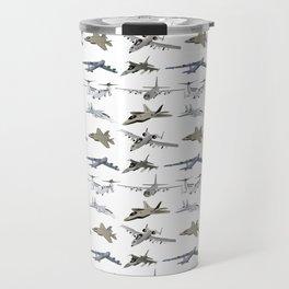US Military Airplanes Travel Mug