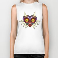 majoras mask Biker Tanks featuring Majoras Mask by fiono