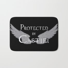 Protected by Castiel White Wings Bath Mat