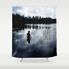 Reflecting Beauty Shower Curtain