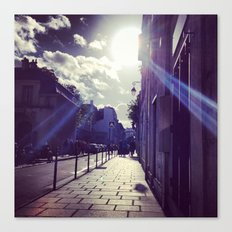 Ray of Sunshine on the Streets of Paris Canvas Print