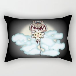 Funny Scared White Cat Balloon With Glasses Rectangular Pillow