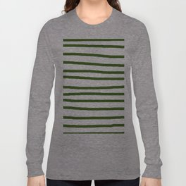 Simply Drawn Stripes in Jungle Green Long Sleeve T-shirt