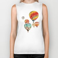 balloons Biker Tanks featuring Balloons by takmaj
