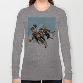 Superhero defeats the Groper Long Sleeve T-shirt