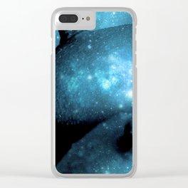 Teal Galaxy Breasts / Galaxy Boobs Clear iPhone Case