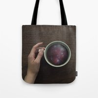 witchoria Tote Bags featuring Morning Microcosm by witchoria