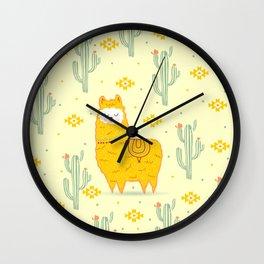 Alpaca summer Wall Clock