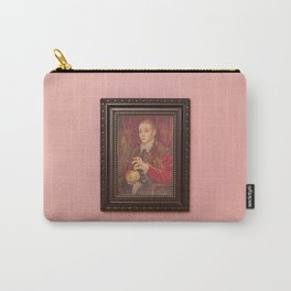 Boy With Apple Carry-All Pouch