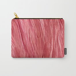 Pink Feather Texture Carry-All Pouch