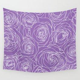 Amethyst Roses Wall Tapestry
