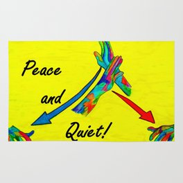 American Sign Language Peace and Quiet Rug