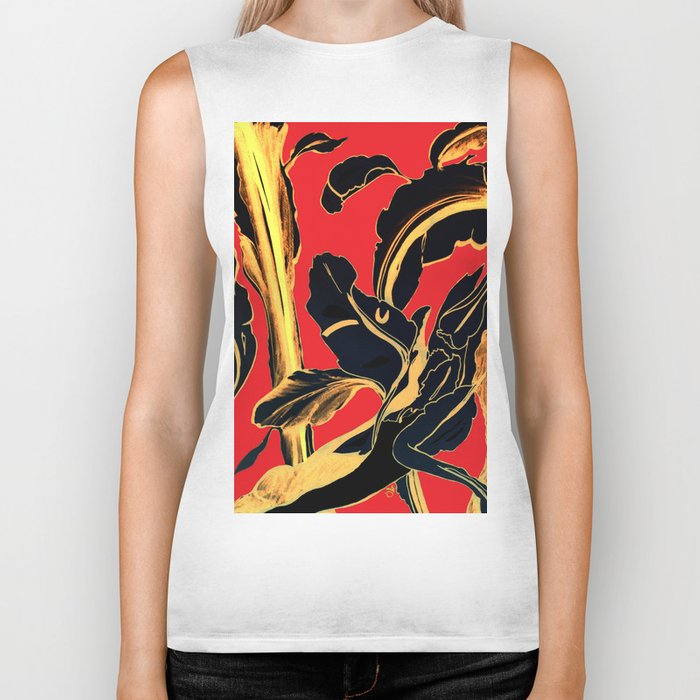 Succulent at Christmas Time, Its the Most Wonderful Time of the Year Biker Tank